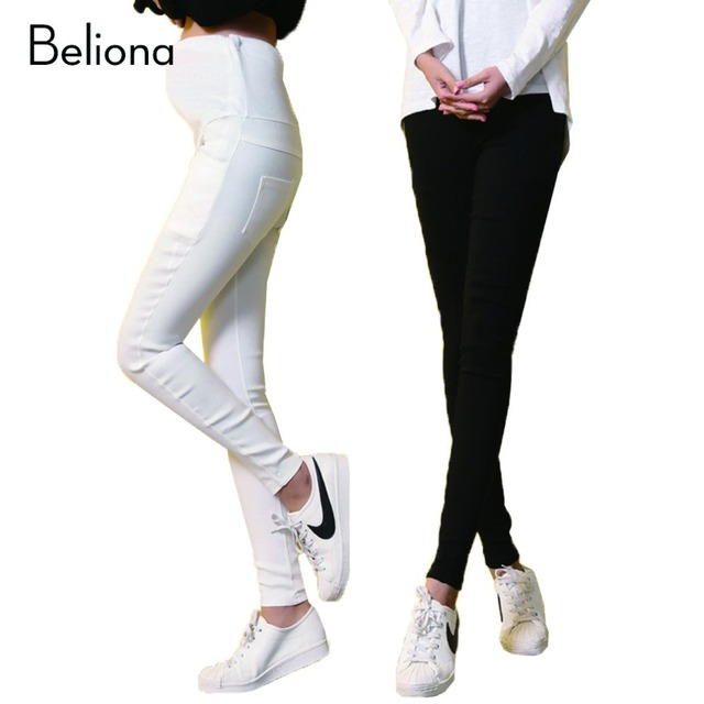 Elasticity Maternity Pants for Pregnant Women Thin Trousers Pregnancy Clothes Pregnant Clothing Hight Waist Pencil Pants Spring