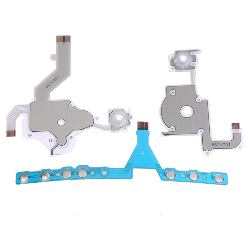 Left Right Buttons Button Flex Ribbon Cable Assembly Flex Cables Replacement Repair Parts Component for PSP 3000 комплект isidora черный бюст пояс и стринги s m