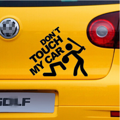 Yourart car styling warning decals vinyl sticker dont touch my car funny car stickers decals for bmw vw ford toyota honda fiat in car stickers from