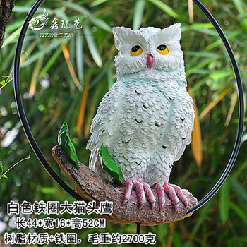 Parrot bird hanging resin crafts gardening potted tree decorations animal model owl ornaments crafts statue home