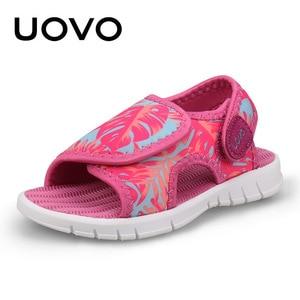 Image 2 - UOVO bebek yürümeye başlayan sandalet 2020 yaz ayakkabı kızlar ve erkekler için hafif taban çocuk sandalet yüksek kalite boyutu 24 # 32 #
