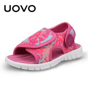Image 2 - Uovo Bé Giày Sandal Tập Đi Mùa Hè 2020 Giày Cho Bé Gái Và Bé Trai Trọng Lượng Nhẹ Đế Giày Sandal Trẻ Em Chất Lượng Cao Kích Thước 24 # 32 #