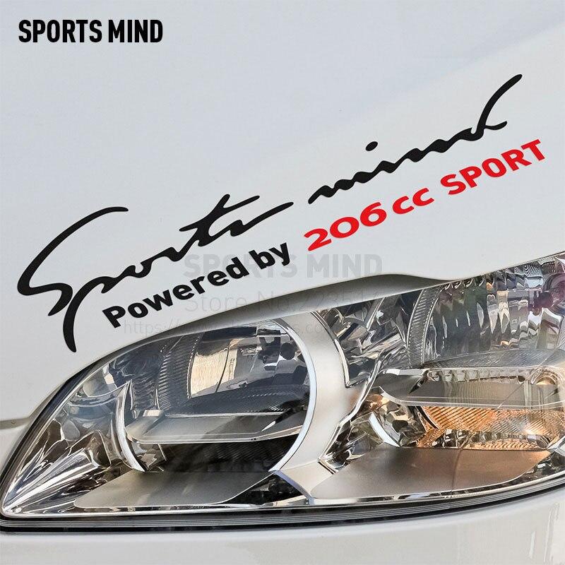 10 шт. Спорт Разум стайлинга автомобилей на авто лампы брови автомобили и Мотоциклы Автомобильные Стикеры наклейка для Peugeot 206cc аксессуары