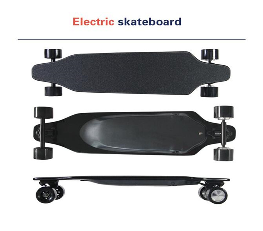 2017 New Wireless Bluetooth Control 4 Wheel Electric Skateboard Scooter Hoverboard Longboard Dual Motors 30 KM/H with carry bag new electric skateboard longboard with remote controller 4 wheels electric skateboard scooter maple deck electric hoverboard