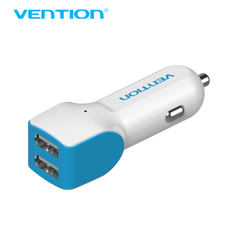 Vention high speed 2 port USB car charger USB 2.0 <font><b>adaptor</b></font> <font><b>for</b></font> android <font><b>and</b></font> iOS smartphones <font><b>for</b></font> micro usb cable