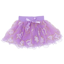 Baby Girls Kids Floral Tutu Skirts Bowknot Pettiskirt Party Ballet Dancing Skirt