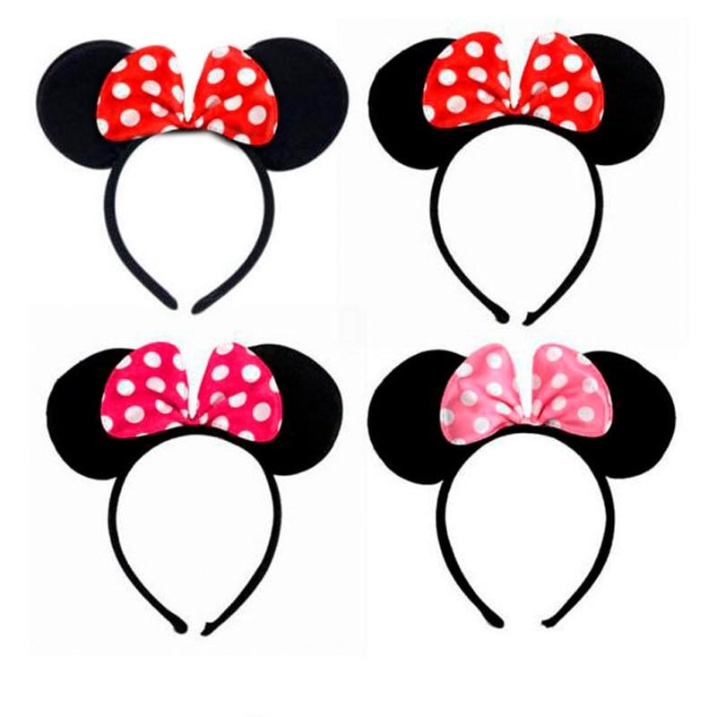 ᐂ12 unids/lote niños Accesorios de pelo Mickey Minnie Mouse orejas ...