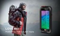 LOVEMEI Prosto Obudowy Telefonu Case do Samsung Galaxy Alpha Snowproof Odporny Na Wstrząsy Dirtproof Aluminium Metal Z Gorilla Glass