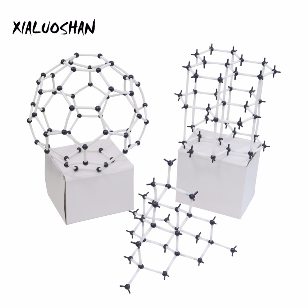 Organic Chemistry Molecular Model 9mm Carbon Allotrope Model Molecules Structure Models Teaching Experiment Tool xhjy xmm 006 chemistry organic molecule model for teaching multicolored