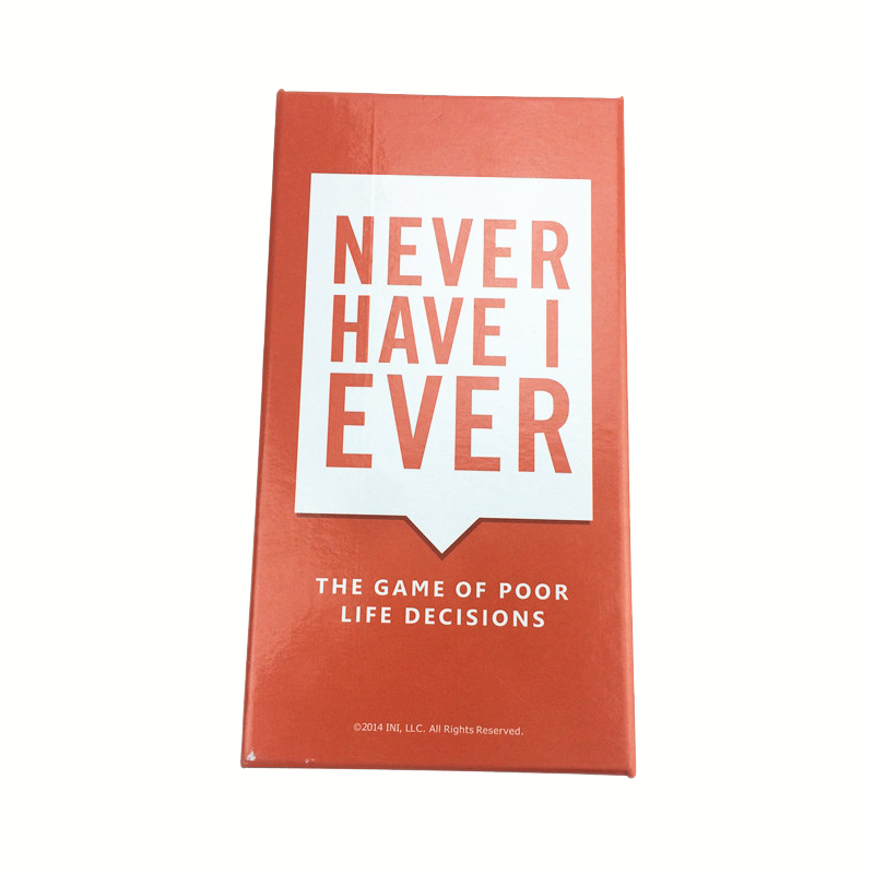 Never Have I Ever Basic Edition Card Board Paper Game Puzzle Manage Game For Famliy PartyNever Have I Ever Basic Edition Card Board Paper Game Puzzle Manage Game For Famliy Party
