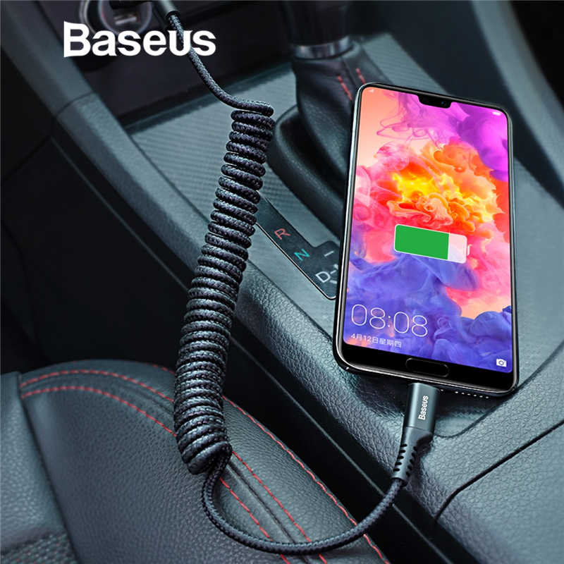 Baseus Spring USB Type C Cable for Car Styling Storage Flexible 2A Charging Cable USB C for Type-C Device