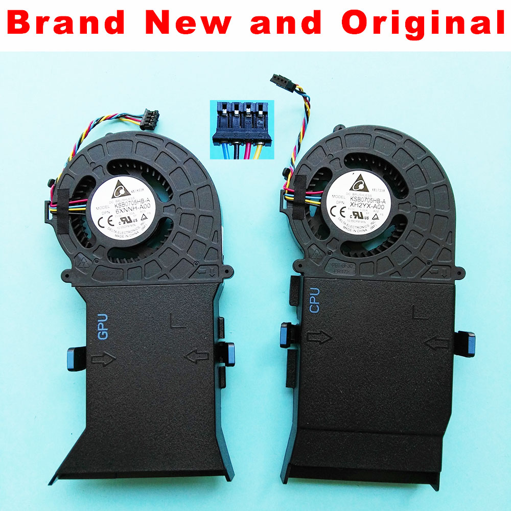 New original GPU CPU FAN For DELL Alienware ALWAR 2508 Alpha cooling fan cooler radiator 0XH2YX
