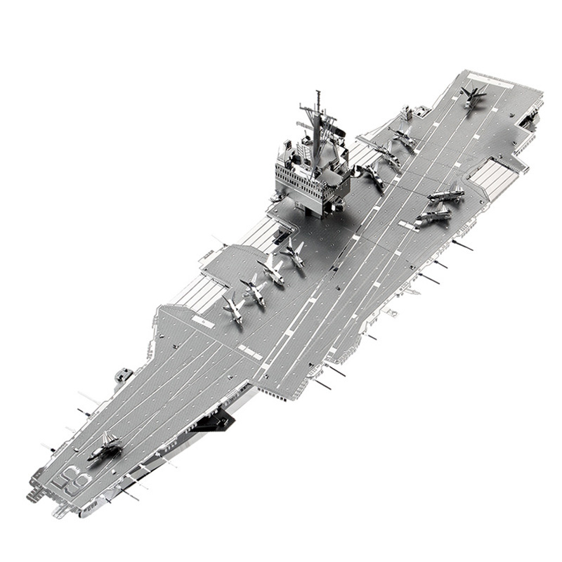 2017 3D Metal Puzzle USS ENTERPRISE CVN-65 Aircraft Carrier P083-S DIY 3D Laser Cut Asse ...