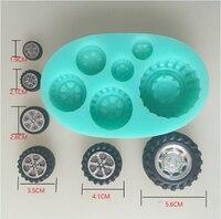Car Wheel Silicone Flexible Mold Tire Silicone Resin Mold Pmc Mold Jewelry Mold Crayon Mold Fondant