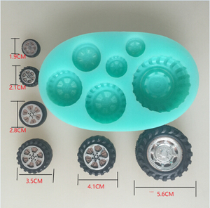 Image 1 - car wheel tires silicone flexible mold, tire silicone resin mold,  jewelry mold, fondant cake mold