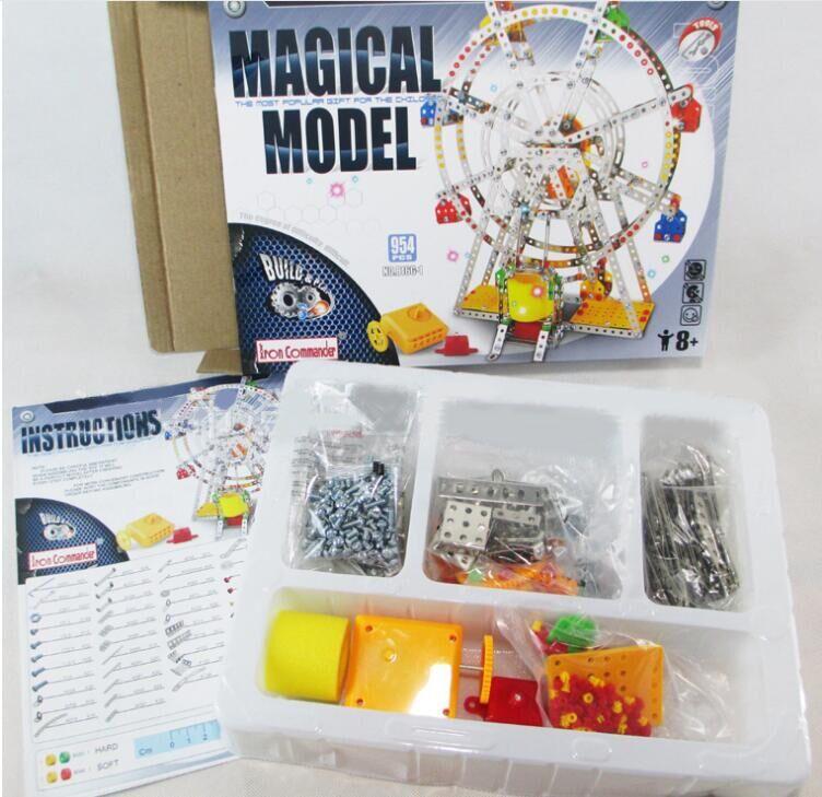 945 Pcsset Iron Commander Diy 3d Puzzle Ferris Wheel Model With
