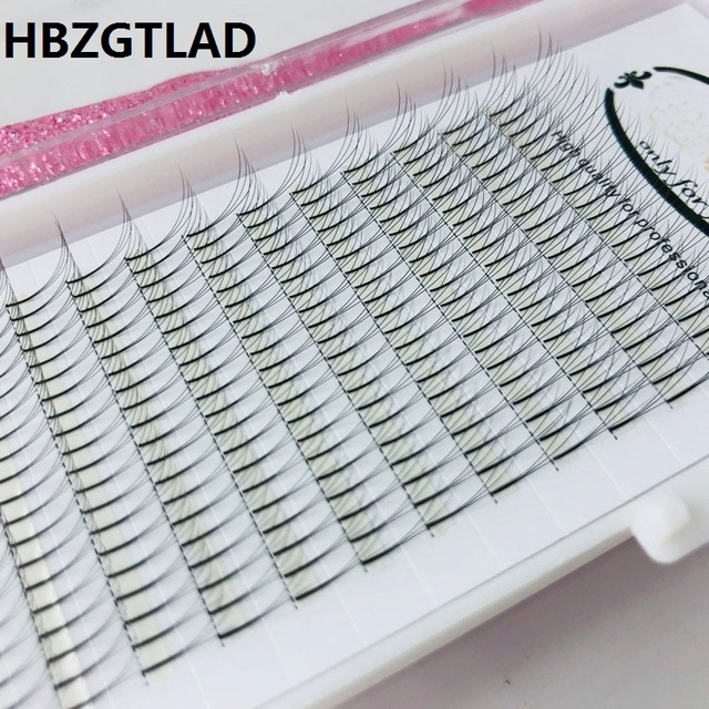 d81360bfb5b 3D Russian Volume Eyelashes Extension Short Stem Pre made Fans Lash Hot  Selling Eyelash Individual Extensions Free Shipping