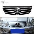 Mercedes classe E w211 pré-lci material abs frente de malha grelha grelha para o benz 2003-2006 w211 grelha grande estrela E320