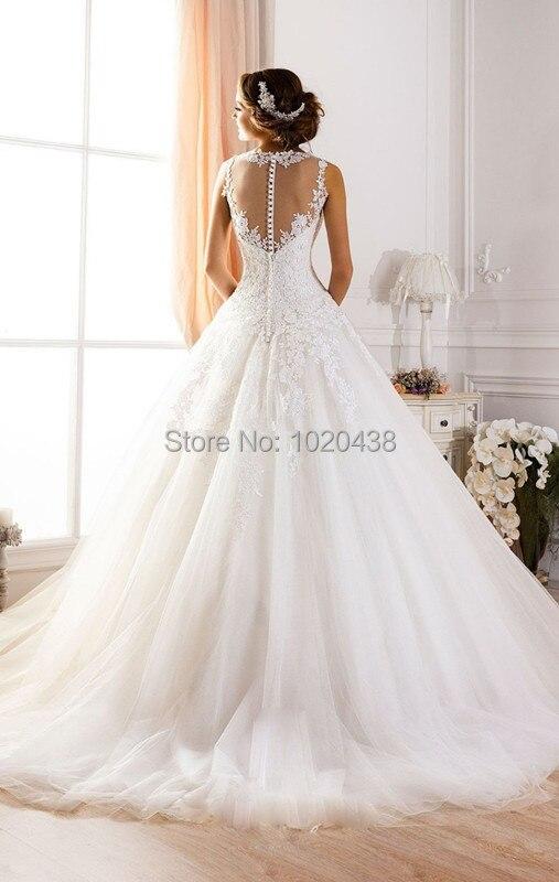 На заказ Vestido De Novia A-Line Иллюзия декольте сексуальное с открытой спиной кружево свадебное платье Casamento Мать невесты платья