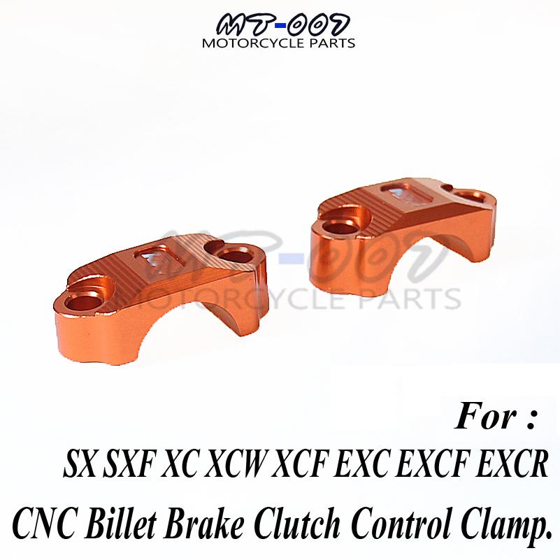 Orange CNC Billet Brake Clutch Control Clamp For 65 85 125 200 250 300 350 450 500 525 530 SX SXF XC XCW XCF EXC EXCF EXCR