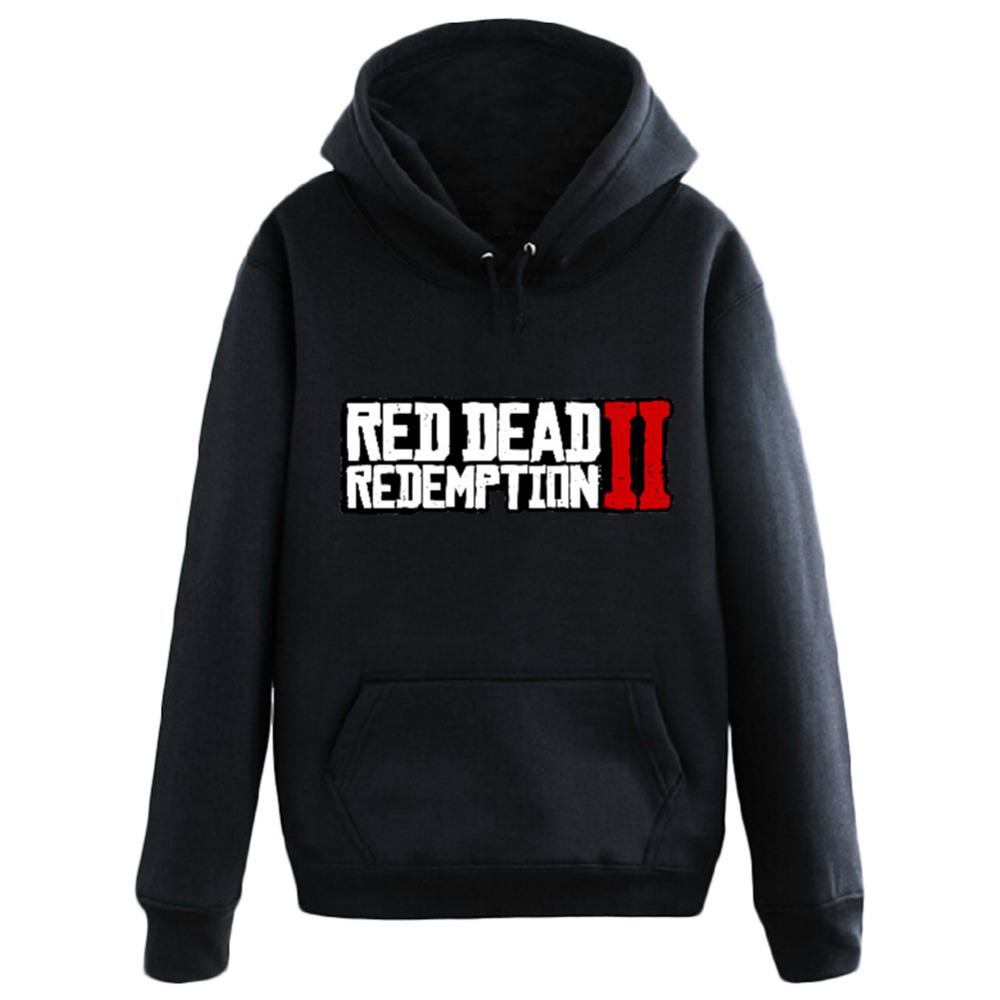 Cosplay Red Dead Redemption 2 Hoodie men's hooded Sweatshirt Game Fans Pullover Long Sleeve