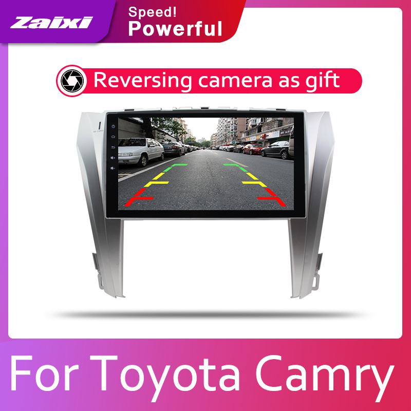 ZaiXi 2din Car multimedia Android Autoradio Car Radio GPS player For Toyota Camry Aurion 2011 2017 Bluetooth WiFi Mirror link in Car Multimedia Player from Automobiles Motorcycles