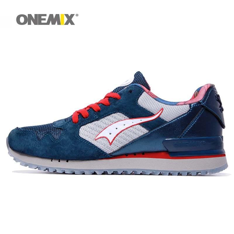 Onemix vintage sneakers for men outdoor athletic shoes classical black white retro running shoes pig nubuck shoes upper on sales 2017brand sport mesh men running shoes athletic sneakers air breath increased within zapatillas deportivas trainers couple shoes