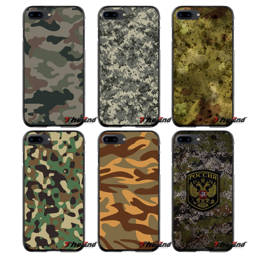 For Apple iPhone 4 4S 5 5S 5C SE 6 6S 7 8 Plus X iPod Touch 4 5 6 Camouflage Accessories Phone Cases Covers