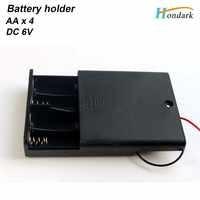 6 ボルト防水電池ホルダー 4 × 1.5 ボルト 4AA バッテリーシェル 4XAA バッテリーケース 4XLR6 電池ボックス上で /オフスイッチ 6''wire 、 100 ピース/ロット