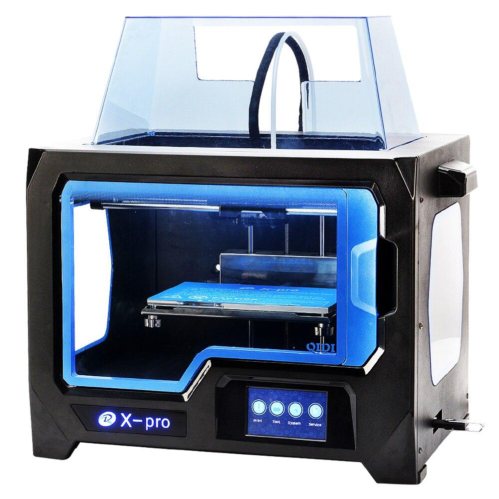 QIDI TECNOLOGIA IMPRESSORA 3D Novo Modelo X-pro, 4.3 Polegada Tela Sensível Ao Toque, Dual Extrusora Com 2 Bobina de Filamento, Funciona Com ABS E PLA