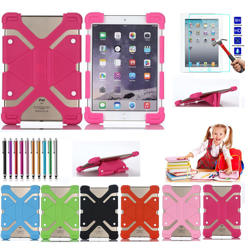Universal adjustable Rubber Case Cover For 7 8 inch Tablet