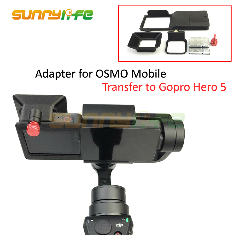 Adapter Switch Mount Plate for DJI OSMO Mobile Gimbal Camera Suitable for GOPRO Hero 5