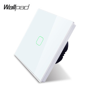 1 Gang 1 Way Touch Sensor Light Wall Switch Glass Panel Wallpad Wall Electrical Light Switch for UK EU 110V-240V High Quality(China)