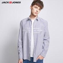 Jack Jones Spring Summer New Men Casual Shirt Embroidered Long Sleeve Striped Shirt  |218305517 vertical striped flower embroidered frill shirt