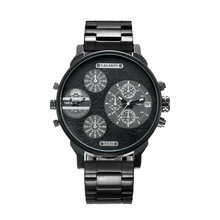 new fashion luxury men's quartz watch business casual stainless steel strap military high-end sports watch relogio masculino