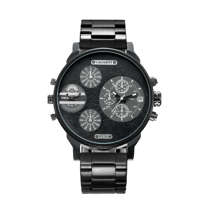 new fashion luxury men s quartz watch business casual stainless steel strap military high end sports