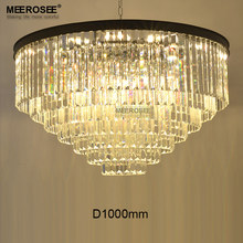 Luxurious Crystal Chandelier Good K9 30mm size Article crystal Hanging Light Fixture Circle Drop Lustre for Home Hotel Project(China)