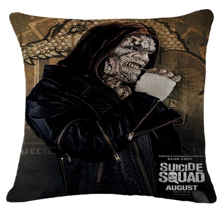 Suicide Squad Movie Sofa Throw Pillow Case Office Chair Decorative Cushion Cover Home Decor Pillowcase Pouf Cojines 45*45cm d14