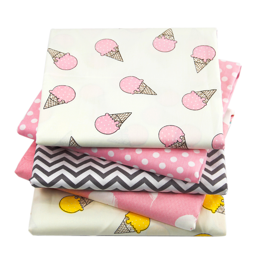David accessories 50*145cm ice cream chevron 100%cotton fabric for Tissue Kid Bedding home textile for Sewing Tilda,1Yc721