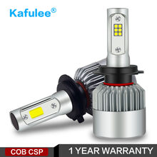 kafulee Car Headlight H7 LED H4 H8 H11 H1 H3 H13 HB3 HB4 9005 9006 9007 S2 COB CSP 12V 24V 6000K 72W 2PSC Auto lamp Bulb light(China)