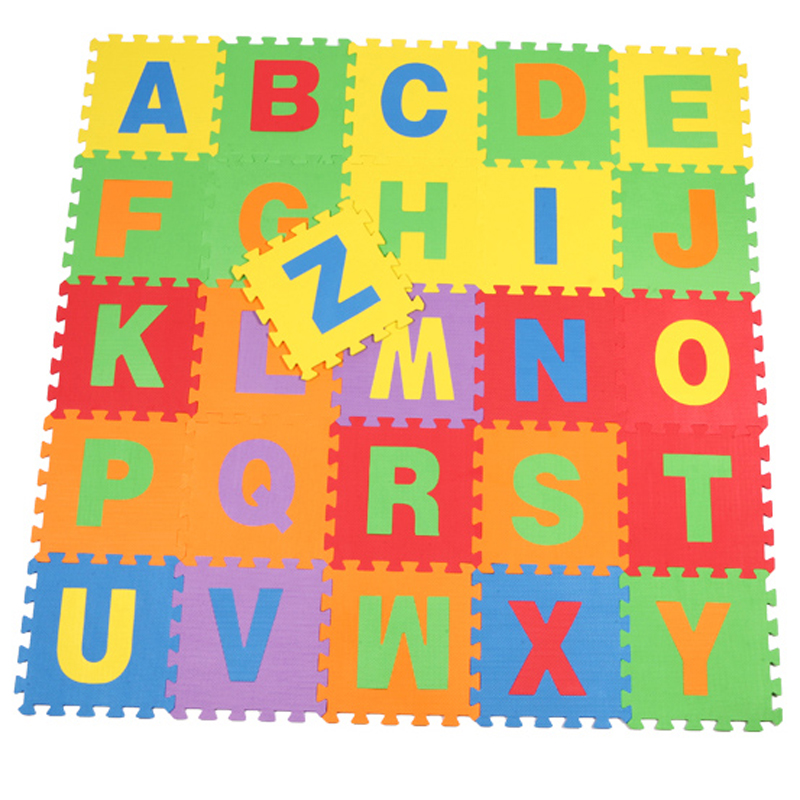aliexpresscom buy 26pcs english letters alphabet pattern eco friendly floor mats soft and good feeling puzzle foam play abc letters mats for baby from