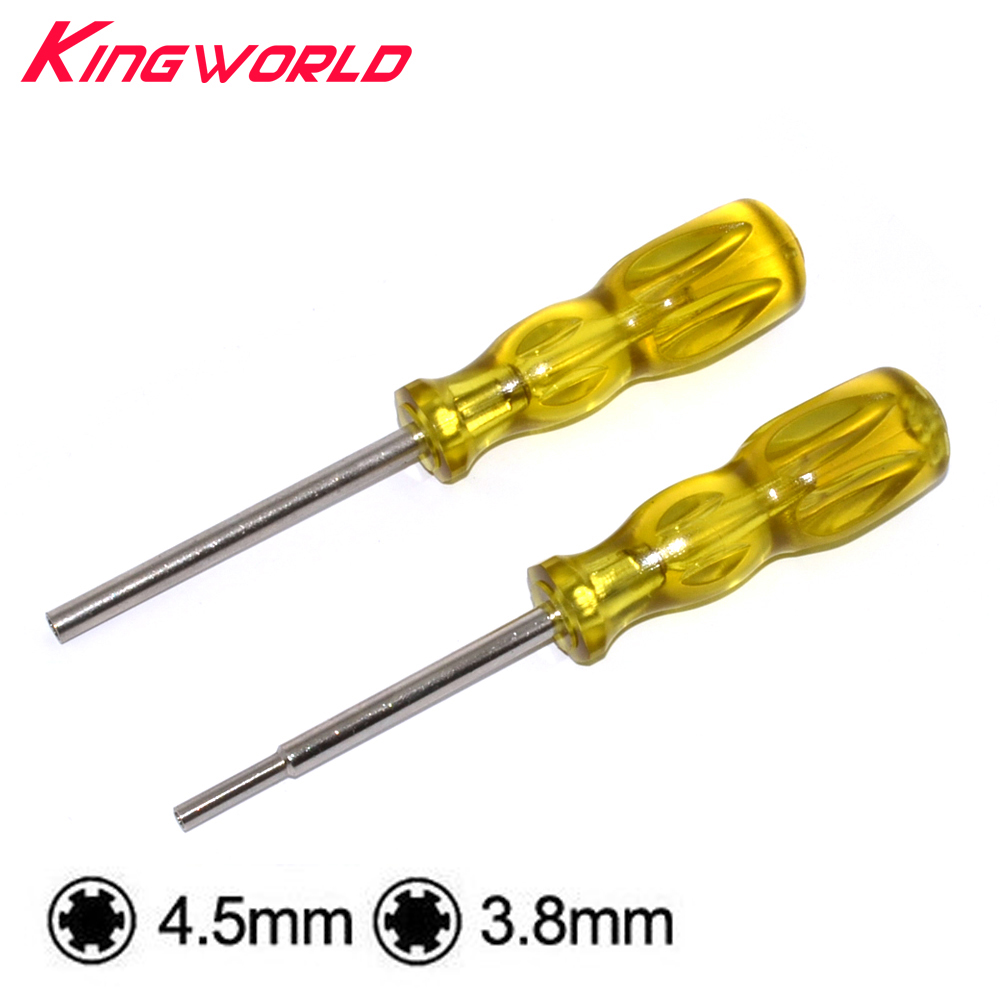1sets 3.8mm 4.5mm Screwdriver Bit Screw Driver GameBit With Handle For N-ES S-NES N-GC For SEGA Game Cartridge