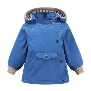 Image 5 - Abrigos y abrigos cálidos a prueba de viento y lluvia para niñas, chaquetas a prueba de viento con cuello para niños, chaqueta informal para exteriores para niños, Primavera