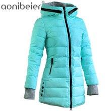 Moderní prošívaný dámský kabát s kapucí