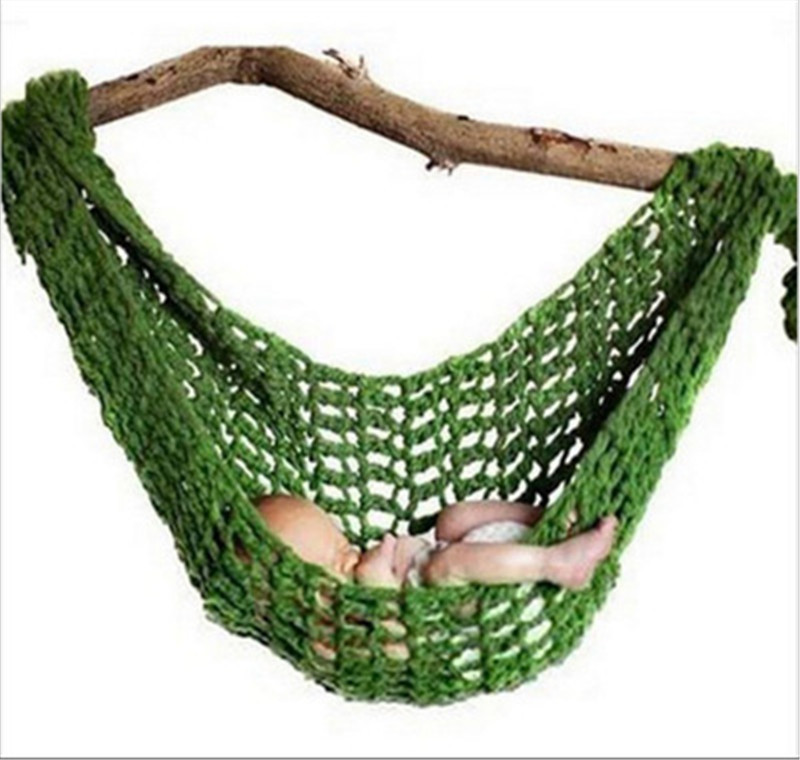 Crochet Cotton Newborn hammock Newborn Size Baby shower Gift Baby Photography Props(China)