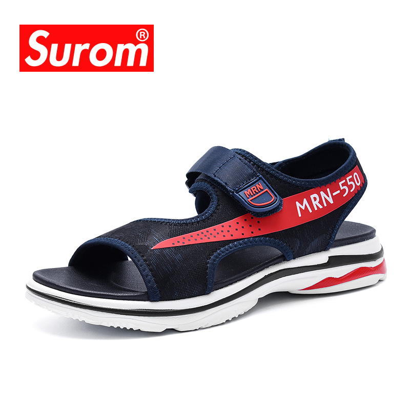 SUROM 2018 New Men s Summer Sandals Triple S sole Fashion Students usual Breathable and Comfortable