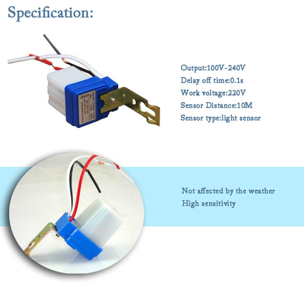Auto Sensor Switch Light Control Photo Controls Photoswitch Lighting Photocell Controlled Wiring Diagram On Off Controller 10m Distance 220v Street 50 60hz 10a