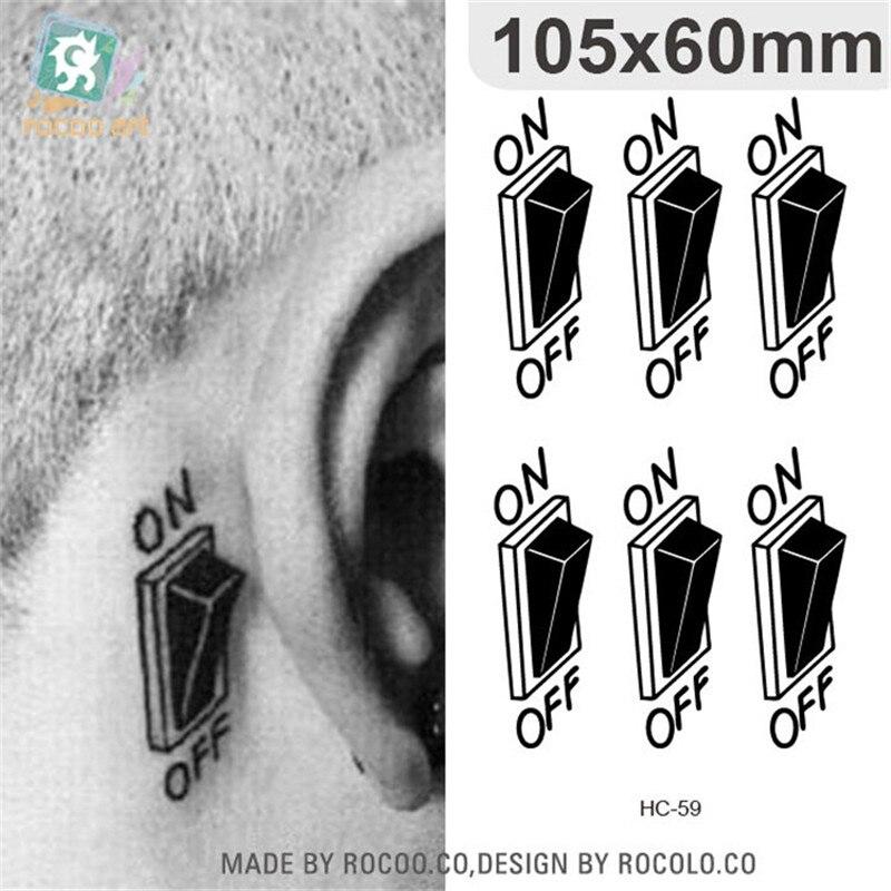 Body Art Waterproof Temporary Tattoos For Men Women Individuality 3d Switch Design Flash Tattoo Sticker Free Shipping HC1059