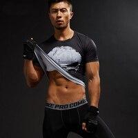 Short Sleeve 3D T Shirt Men T-Shirt Male Crossfit Tee Captain America Superman tshirt Men Fitness Compression Shirt Punisher MMA 4
