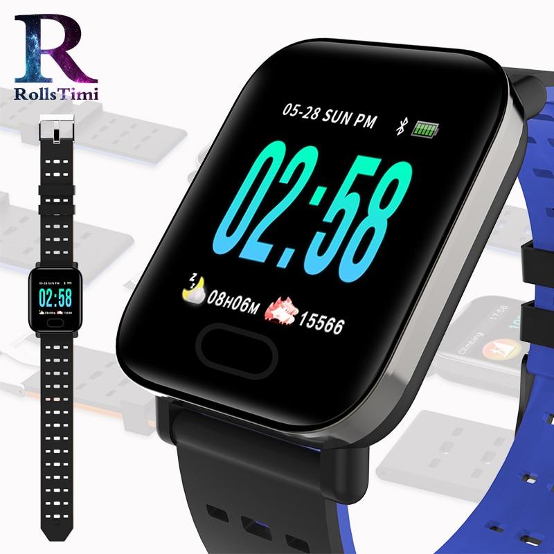 RollsTimi New Smart Watches Mens Waterproof Sports Wristwatch Women Fitness Tracker Blood Pressure Wristband Classic Smartwatch
